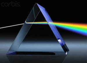 Light Beam Through Glass Prism --- Image by © Matthias Kulka/Corbis